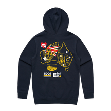 Load image into Gallery viewer, #AidforAus - Unisex Navy Hooded Pullover