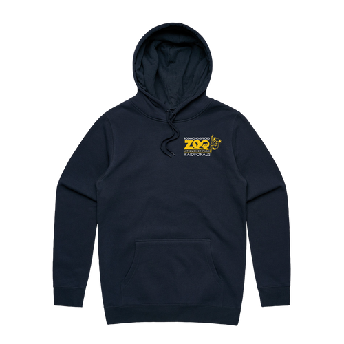 #AidforAus - Unisex Navy Hooded Pullover