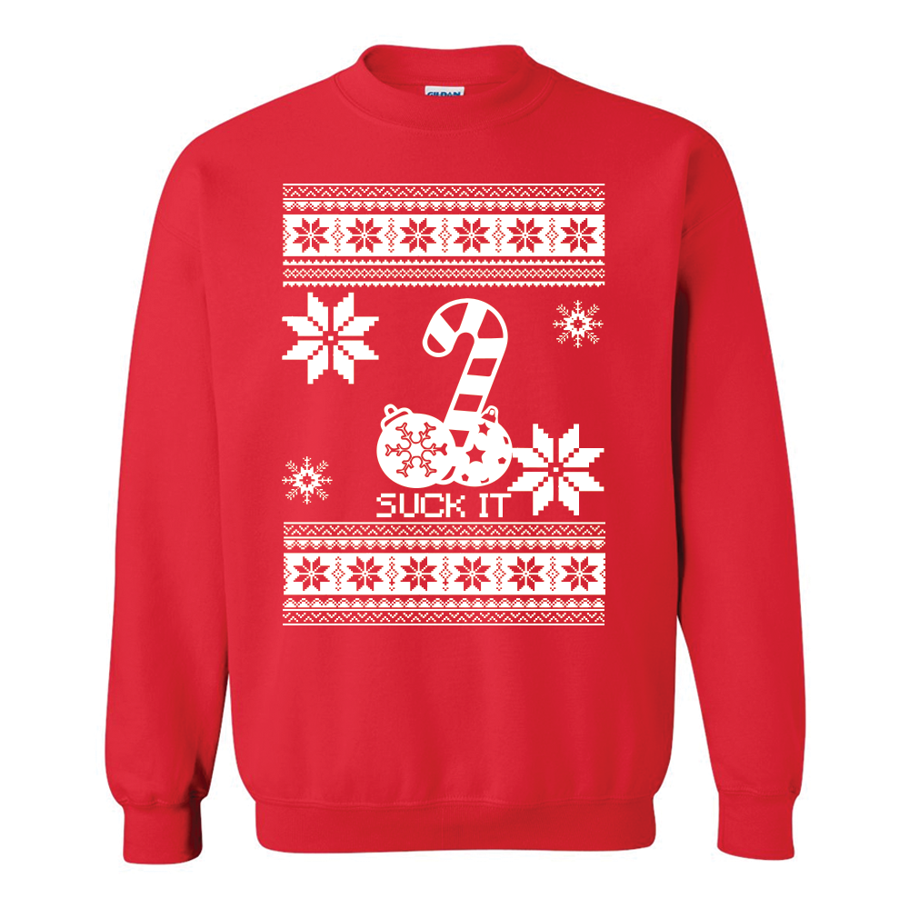 suck it ugly christmas sweater - Pink Ugly Christmas Sweater