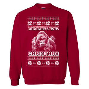 Harambe Loved Christmas Ugly Christmas Sweater