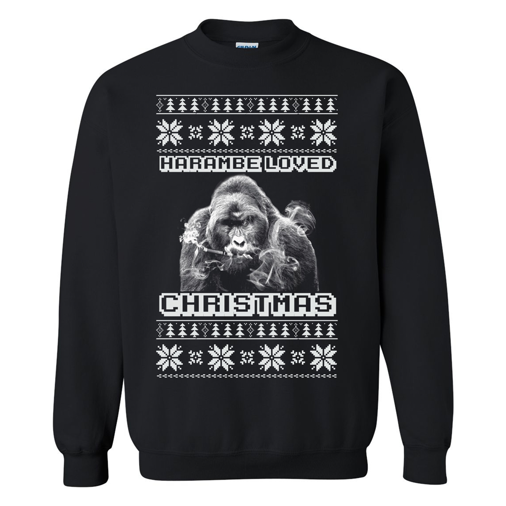 Harambe Loved Christmas Ugly Christmas Sweater – themerchspot