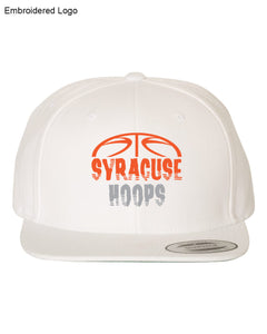 Hoops White Flat Brim Hat