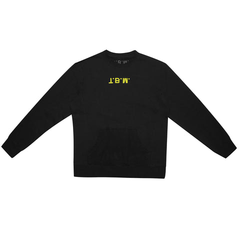 Black Puff Logo - Crew Neck