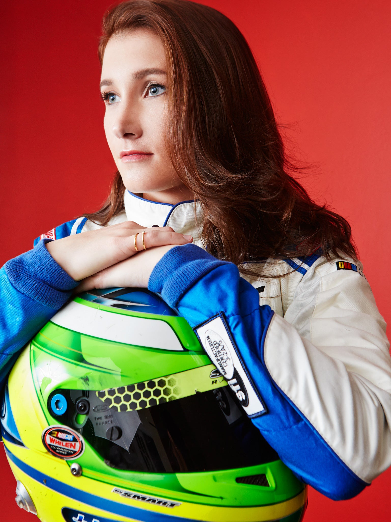 julia landauer NASCAR racer interview with shiffon co meaningful jewelry