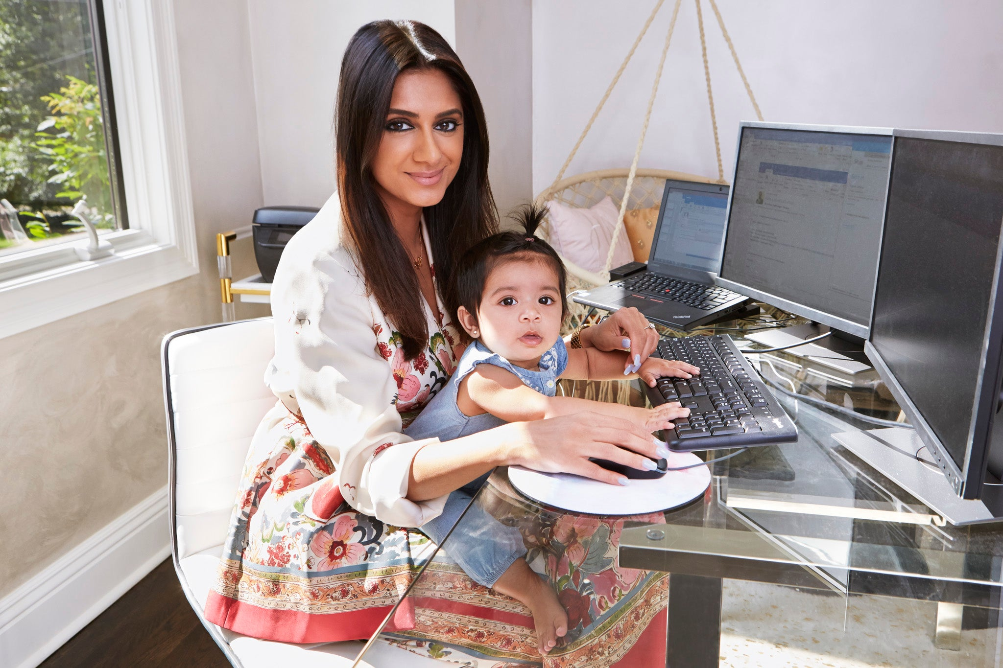 megha rao and baby photographed in duet pinky ring for shiffon co