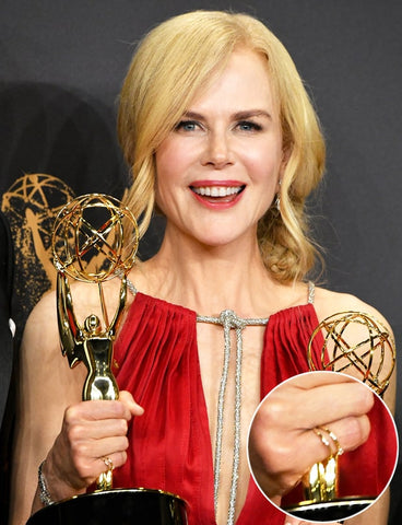 Nicole Kidman Wears Shiffon Co Jewelry to the Emmys