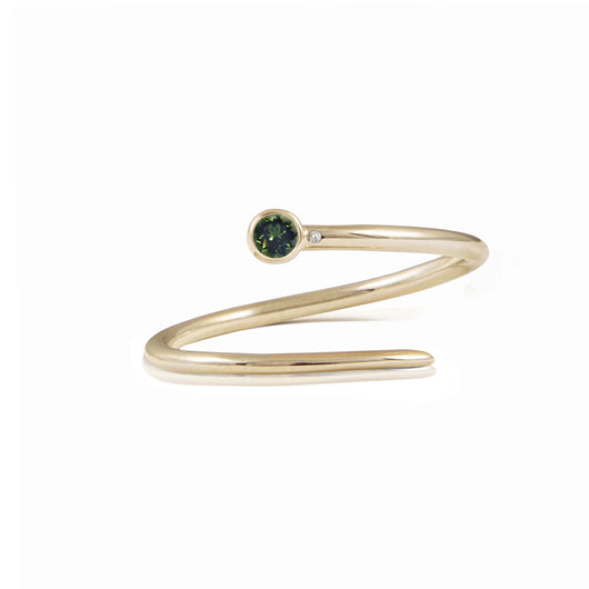 Limited Edition Green Tourmaline Duet Pinky Ring