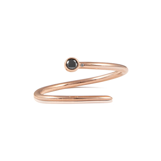 Limited Edition Diamond Duet Pinky Ring (black diamond)