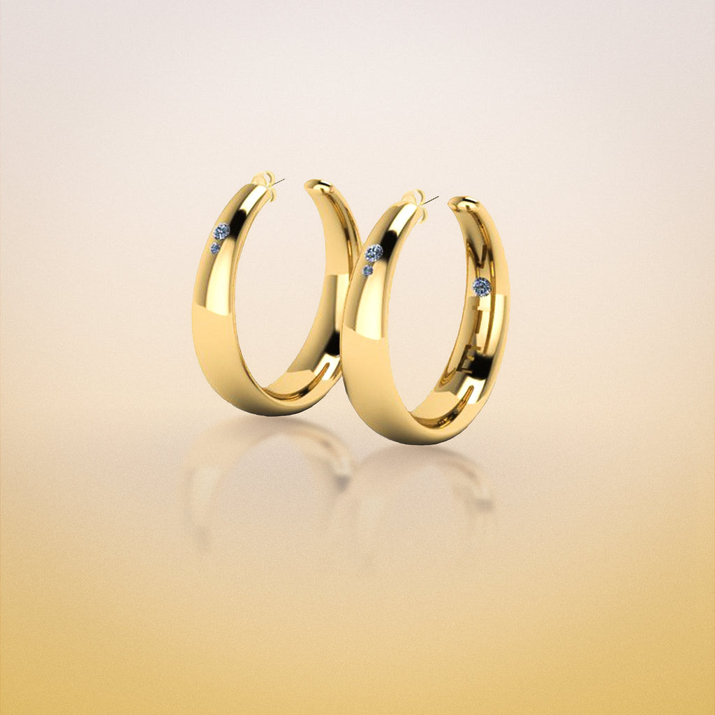 Limited Edition: 2-inch Gold HOOPS