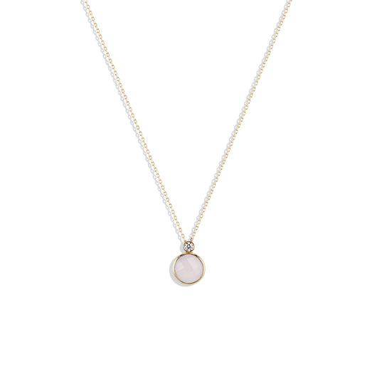Julie's Classic Necklace in Rose Quartz