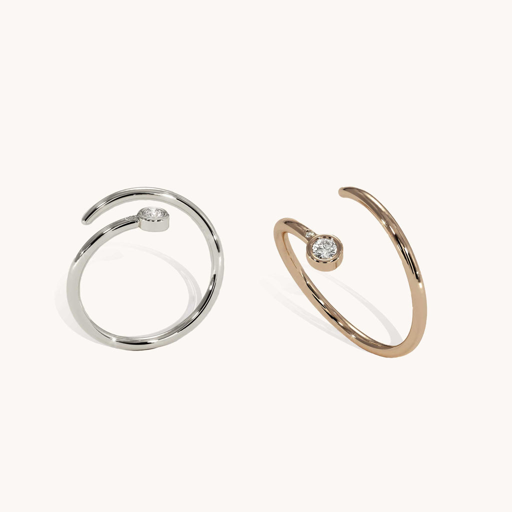 Duet Pinky Ring Set of Two