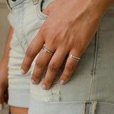 Shiffon Duet Pinky Ring in Sterling Silver - Wear The Change You Want To See