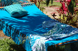 Handmade fairtrade crocheted hammock turquoise, teal