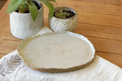 Large Handmade Ceramic Oval Platter