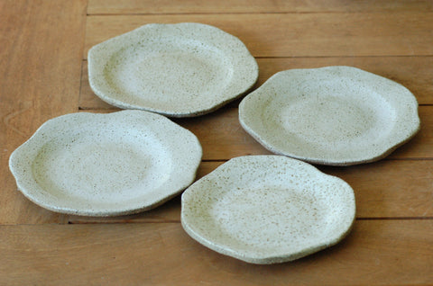 Handmade ceramic serving plates set 4 made in australia servingware tabletop cake plates