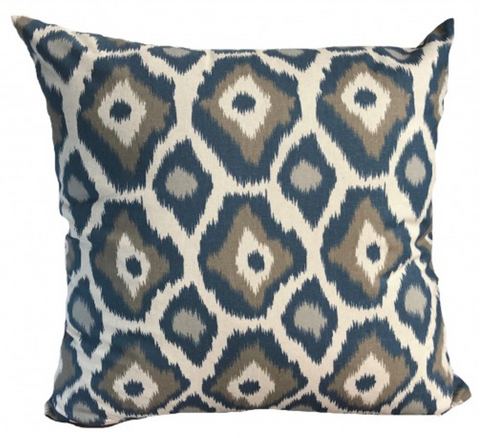 ikat cushion handmade ethical