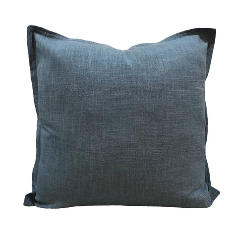 Linen cushion dark blue indigo midnight navy handmade hamptons coastal style cushions