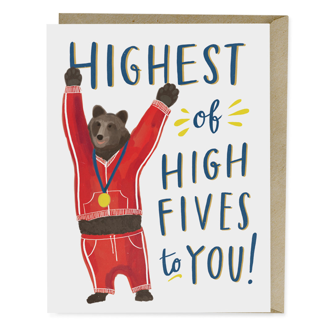 Highest of Fives Greeting Card