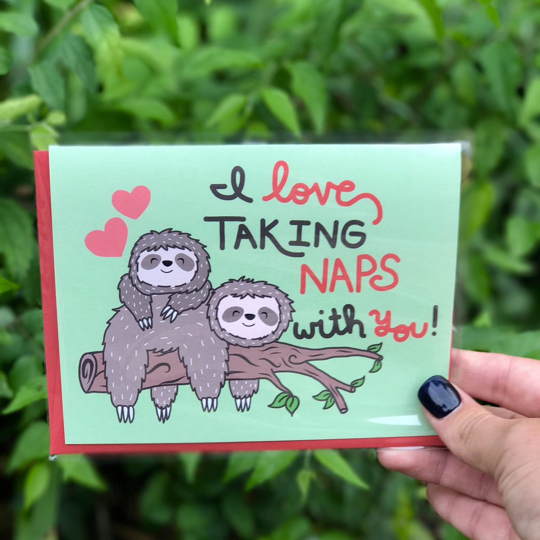 Naps With You Greeting Card