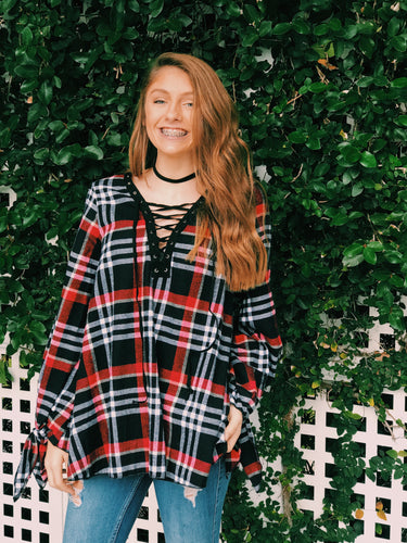 In Love With Plaid Top