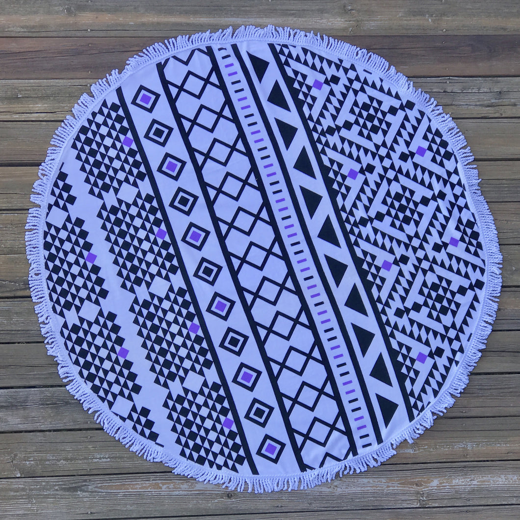 Aztec Round Beach Towel