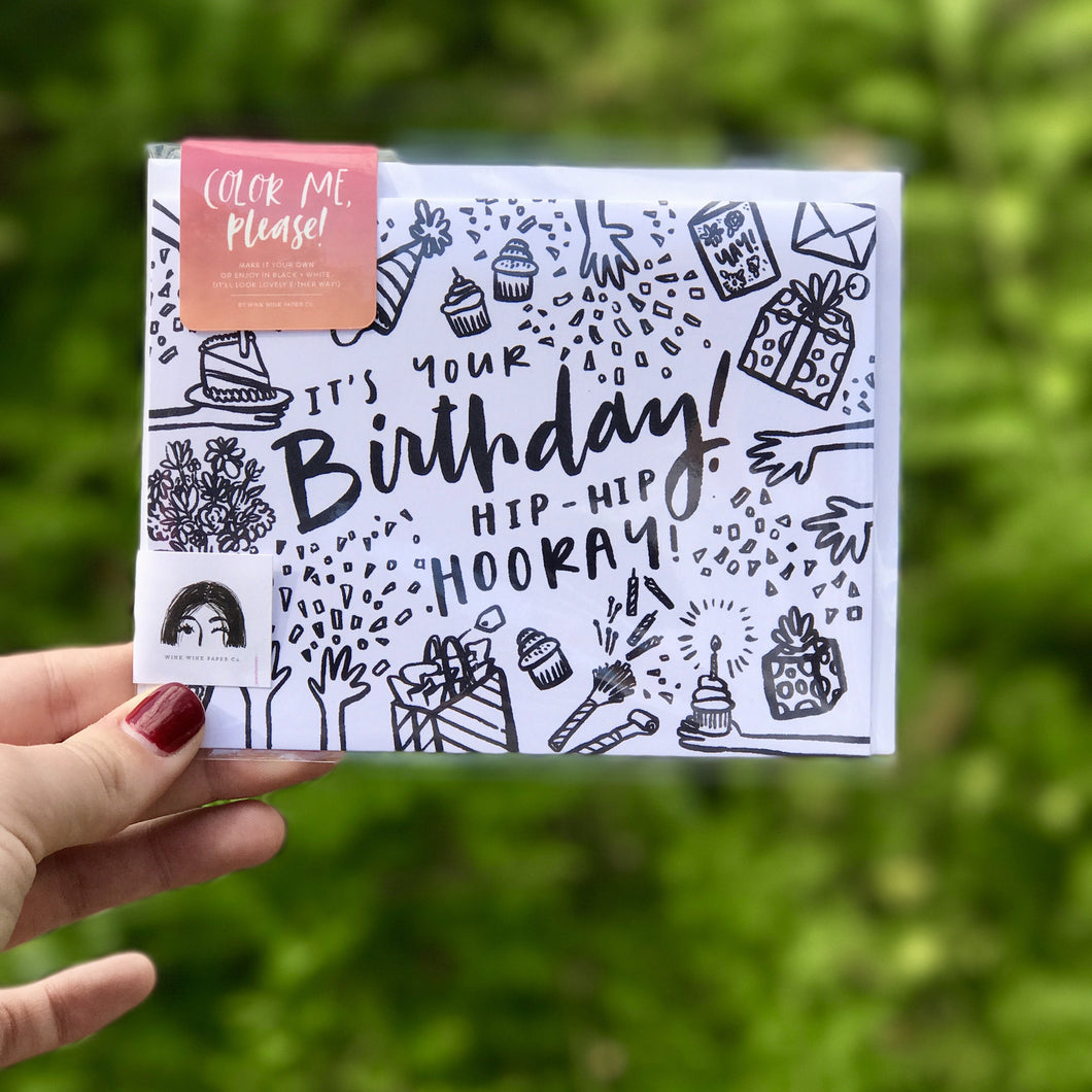 Color Me Please Birthday Card