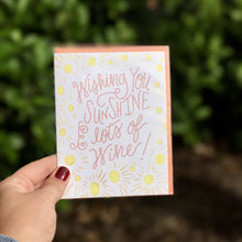 Sunshine & Wine Greeting Card