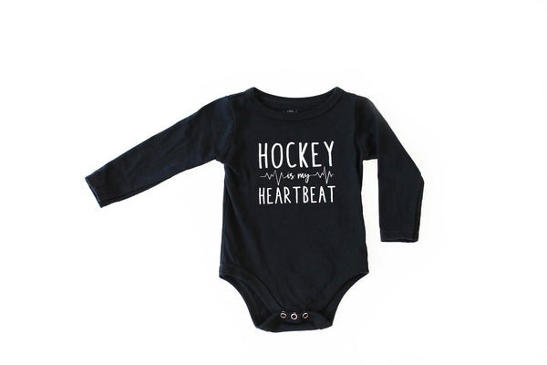 Hockey Is My Heartbeat Onesie