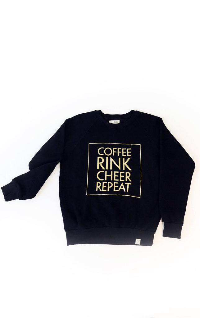 Coffee Rink Cheer Repeat Sweatshirt