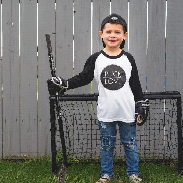 Puck Love Baseball Kid's Baseball Tee