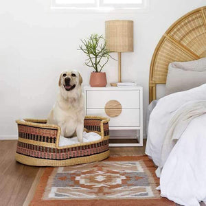 Ghana Dog Bed Bolga Basket