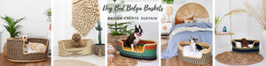 dog bed basket bolga basket