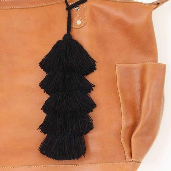 Guatemala Layered Tassel Black