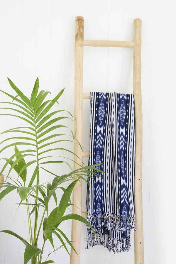 ikat tassel throw - sundayisle
