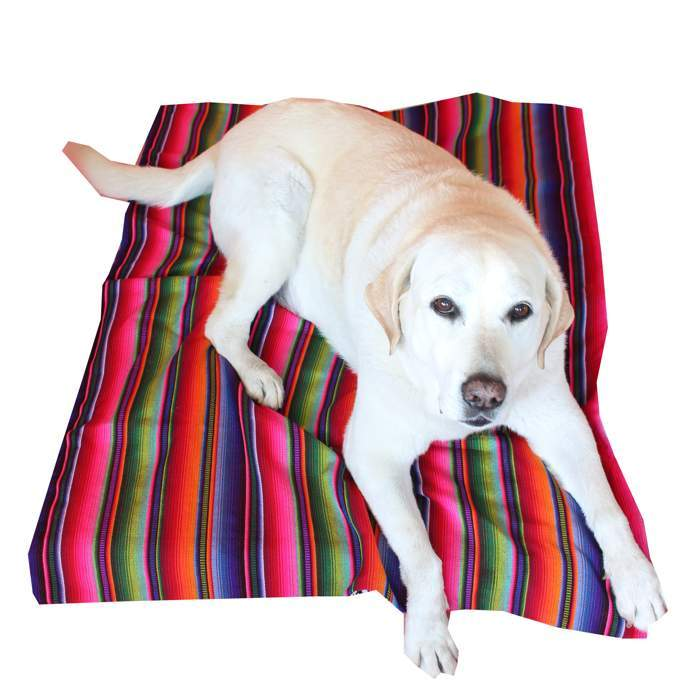 Guatemalan Striped Dog Bed Cover