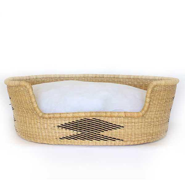 Dog Bed Basket (cushion included) - Large Design 2