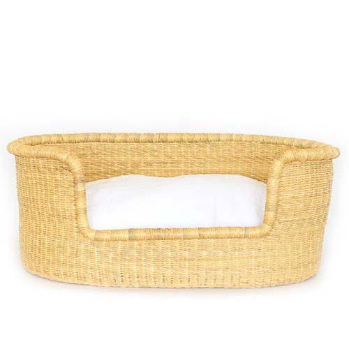 Dog Bed Basket (cushion included) - Large Natural