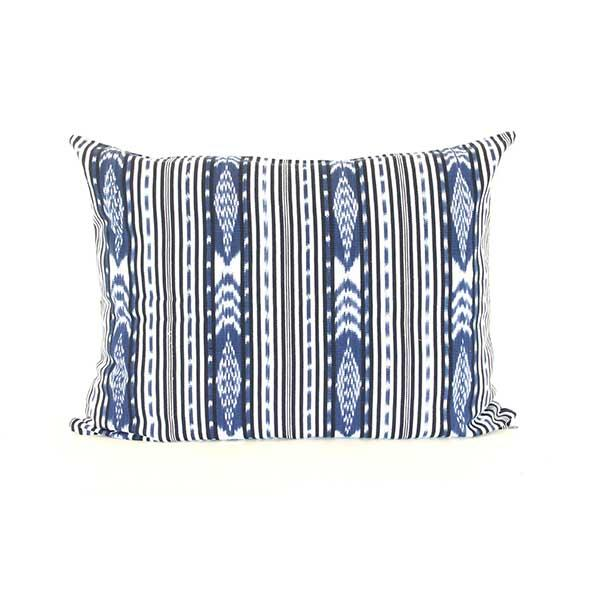 Dog Bed Insert Cover - Blue Ikat