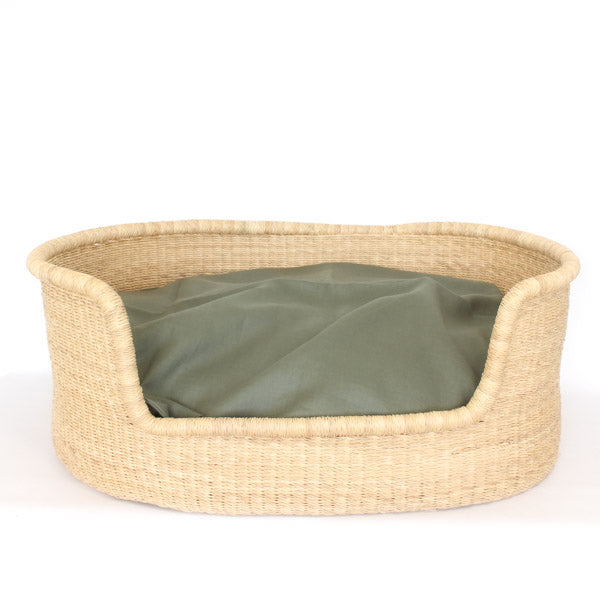 Dog Bed Insert Cover - Olive Linen
