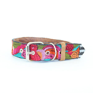 Vintage Embroidered Dog Collar #52