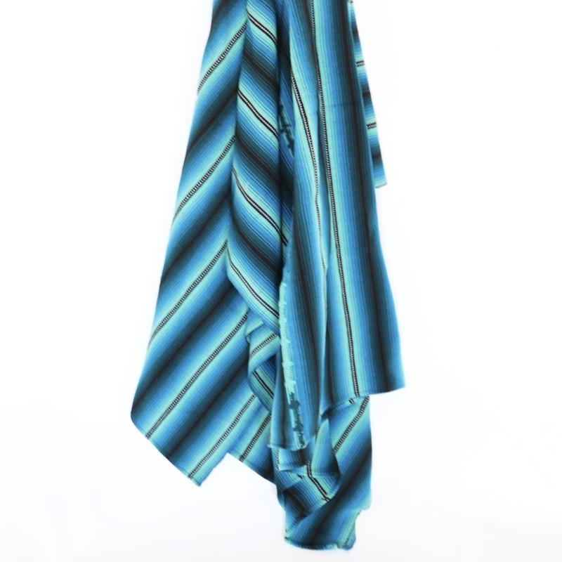 Guatemalan Striped Blankets - Blue