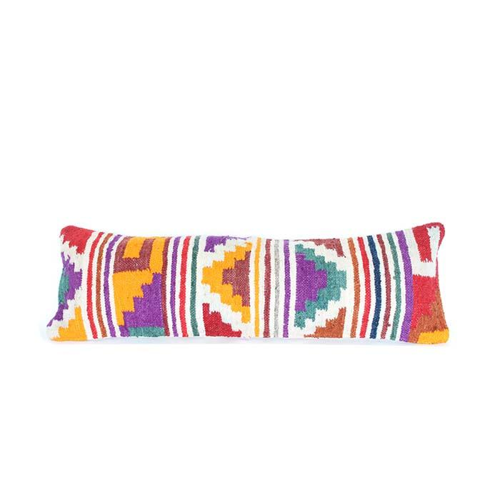 Guatemalan Wool Lumbar Cushion 113
