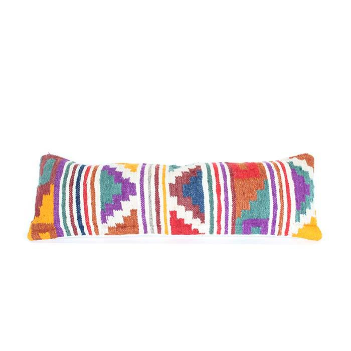 Guatemalan Wool Lumbar Cushion 119