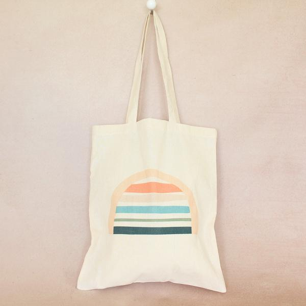 Rainbow Cotton Tote Small RESTOCKED