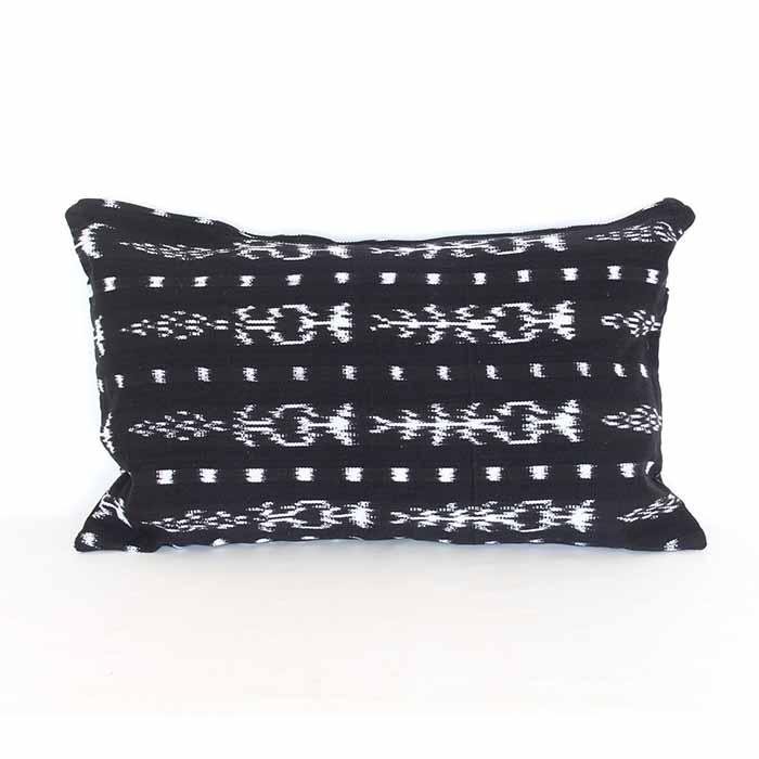 Ikat Cushion Black