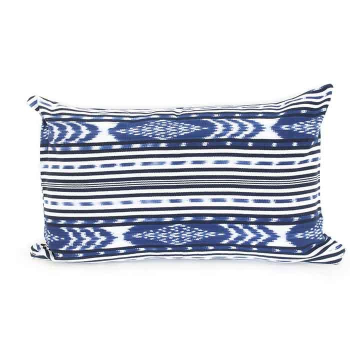 Ikat Cushion Blue & White