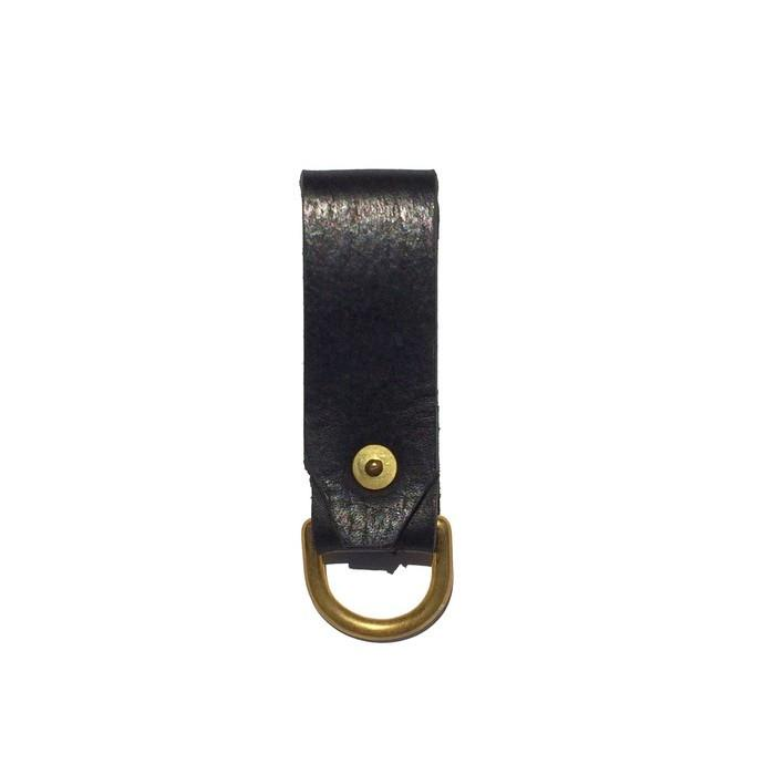 Haiti Leather Keyring Black - sundayisle