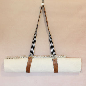 Leather & Woven Yoga Mat / Blanket Strap