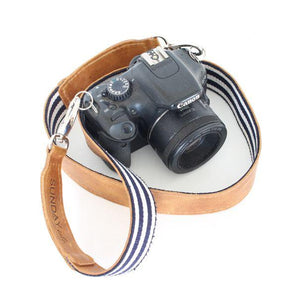 Leather & Woven Camera or Bag Strap