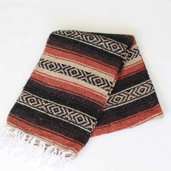 Mexican Falsa Blanket Large - Natural